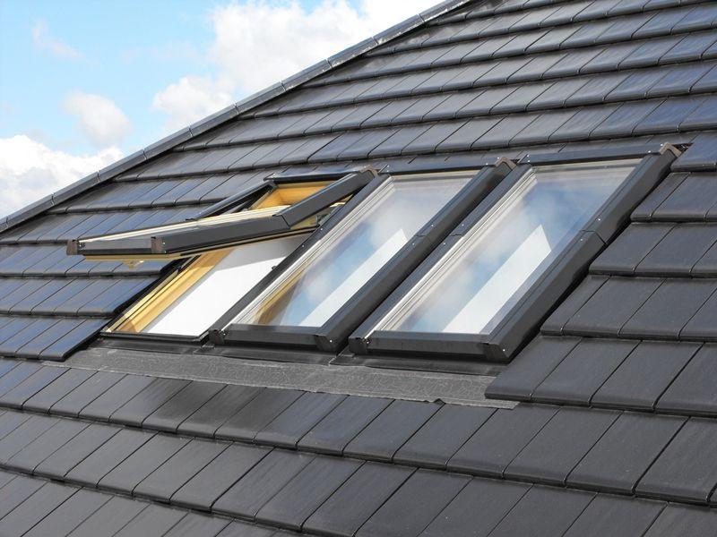 Kunststoff Dachfenster mit Eindeckrahmen Rollo Bestseller Top Skylight AFG